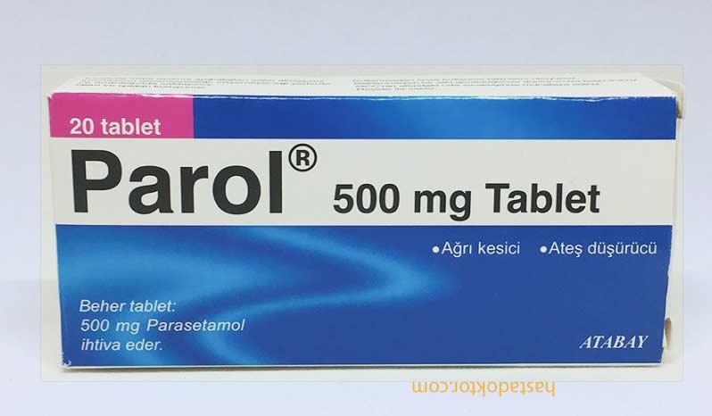 Parol 500 mg ağrı kesici tabletin kutusu
